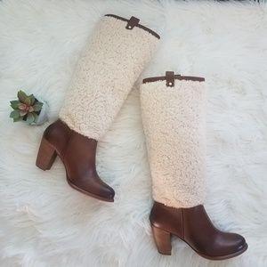 ❣UGG Cream Shearling Ava Knee High Boots❣